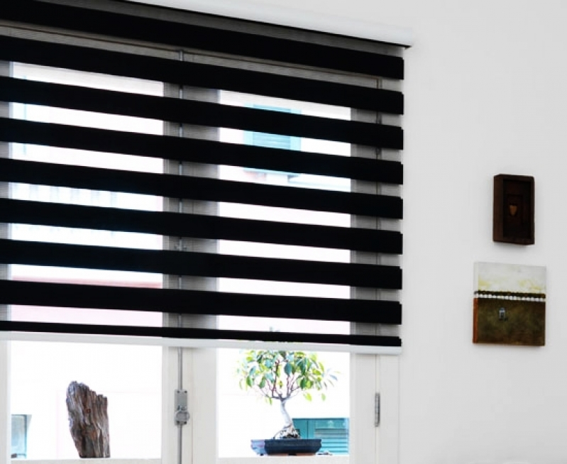 Persianas Double Vision Blackout Caieras - Persiana Double Vision Blackout